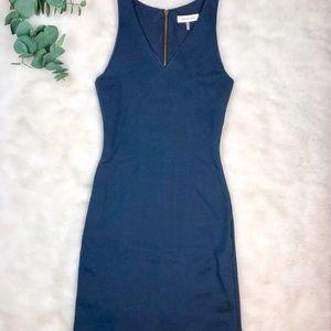 Amour Vert dark teal sheath dress